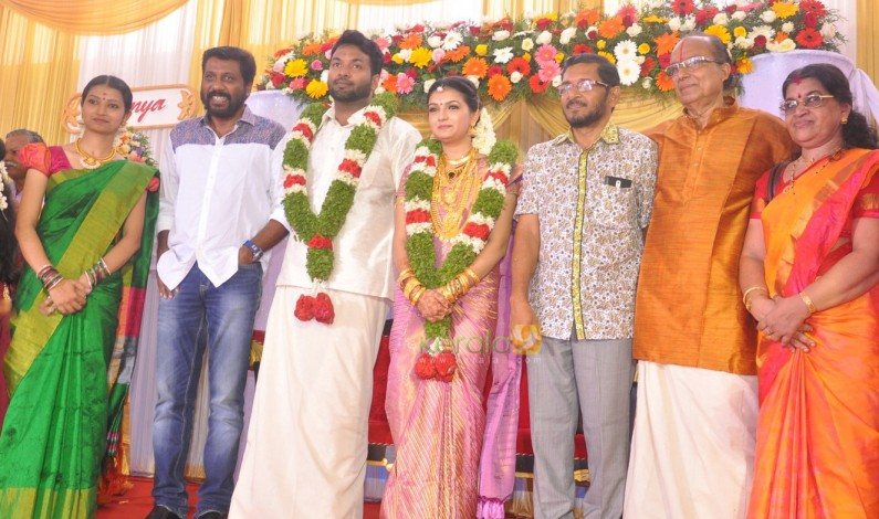 Saranya Mohan Reception stills