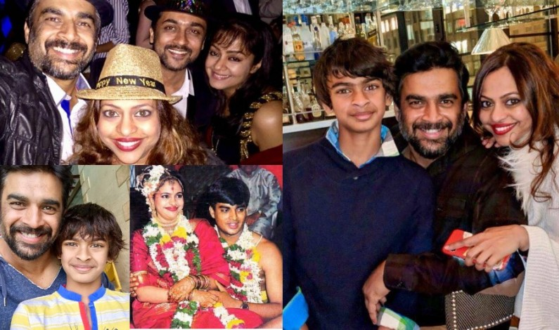 Actor Madhavan with Family – Family Gallery