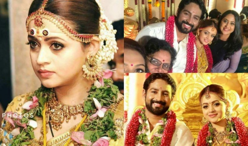 Bhavana wedding stills