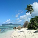 Another spectacular beach of Anse Source d'Argent on the island of La Digue, Seychelles.