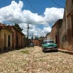 A street in Trinidad, Cuba. Trinidad has been one of UNESCOs World Heritage sites since 1988.