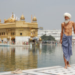 Sikh pilgrim at the Golden Temple