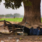 Sleeping man in Ouagadougou