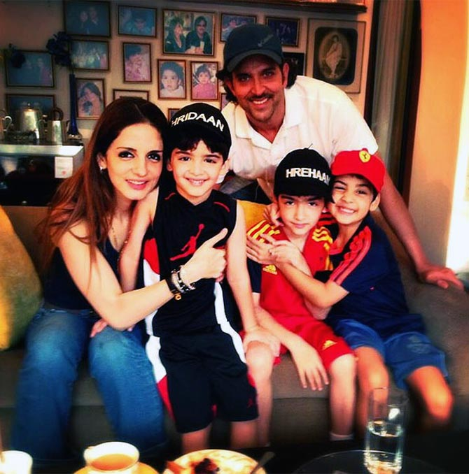Hrithik Roshan and Family stills