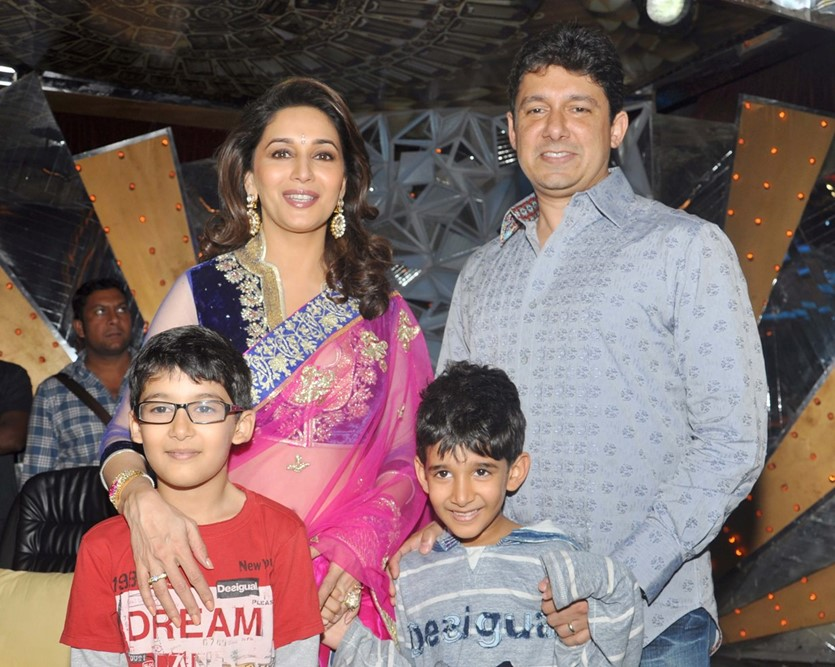 Madhuri Dixit and family stills