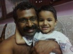sreejith with son