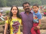 sreejith with wifekid