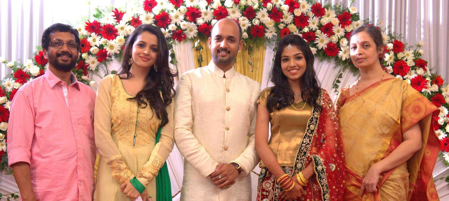 Bhavana and Family stills