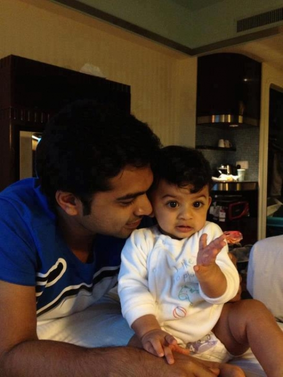 Silambarasan and family stills