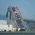 Japaneese Roller Coaster Bridge:The Eshima Ohashi bridge in Japan