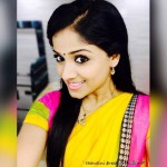 Chandini Sreedharan in saree